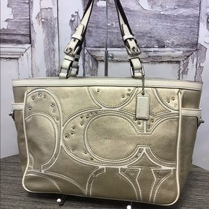 Coach Pierced Studded Gallery Tote F13121